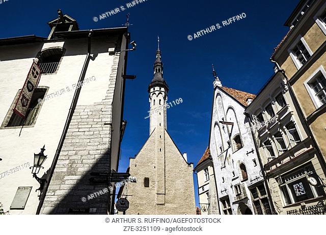 Tallinn Town Hall (Tallinna raekoda), Tallinn Town Hall Square (Raekoja Plats). Old Town, Tallinn, Estonia, Baltic States
