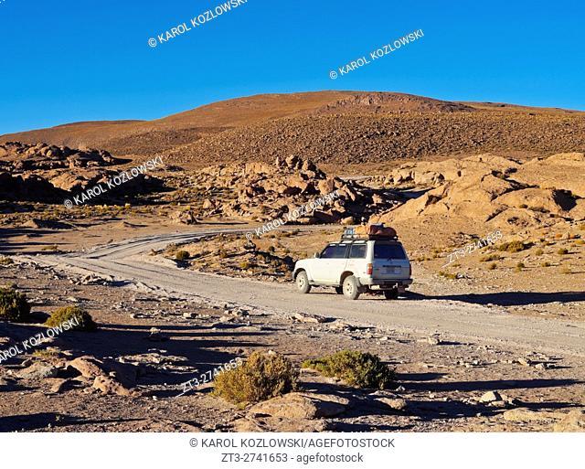 Bolivia, Potosi Departmant, Sur Lipez Province, Eduardo Avaroa Andean Fauna National Reserve, Landscape of the Sierra Quetena