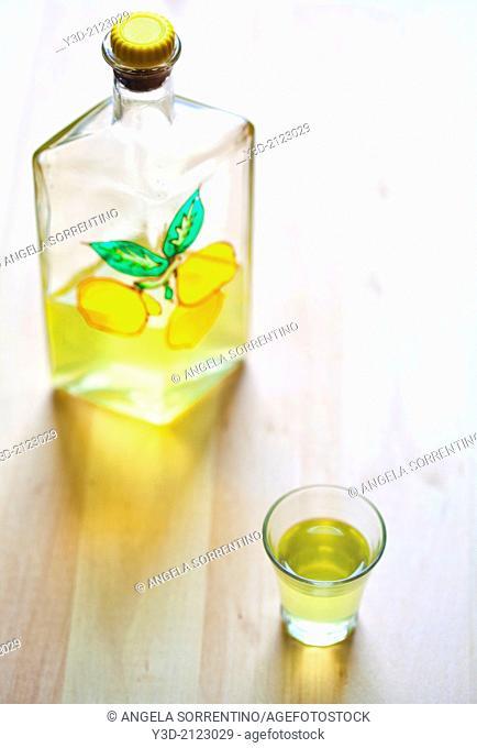 Limoncello liquor, Italy