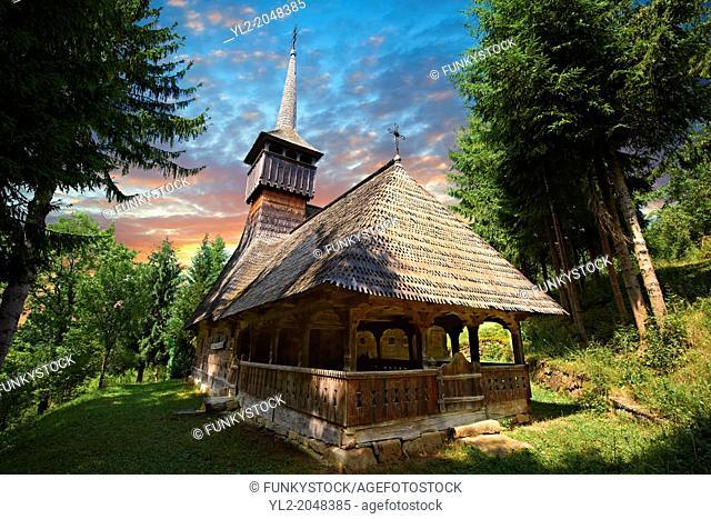 "Wood Churches ( Biserica de lemn ) - The """" Adormirea Maicii Domnulu"""" Susani , Maramures, Northern Transylvania, Romania"