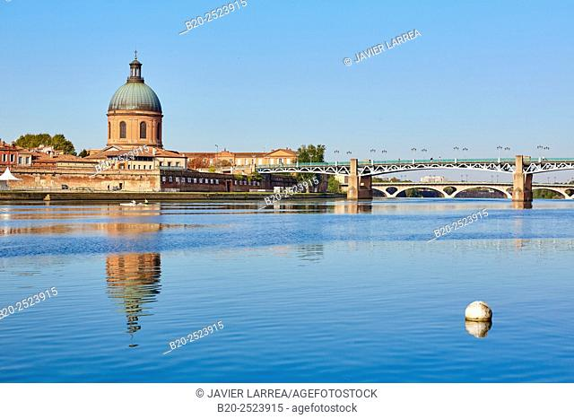 Pont Saint Pierre. Hospital La Grave. Garonne river. Toulouse. Haute Garonne. France