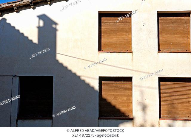 windows, shadow, Vallgorguina, Catalonia, Spain