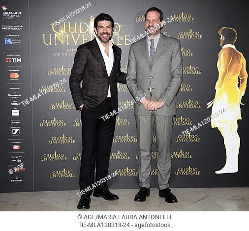 Pierfrancesco Favino , Marco Balich  during 'Giudizio Universale' photocall, Rome, Italy - 12 Mar 2018