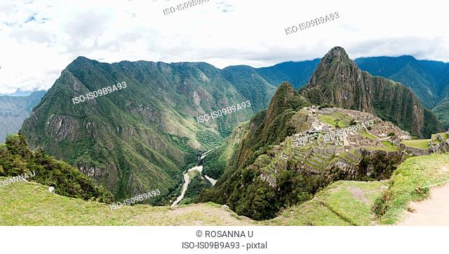 Views from the top of Machu Picchu Mountain, Cusco, Peru, South America