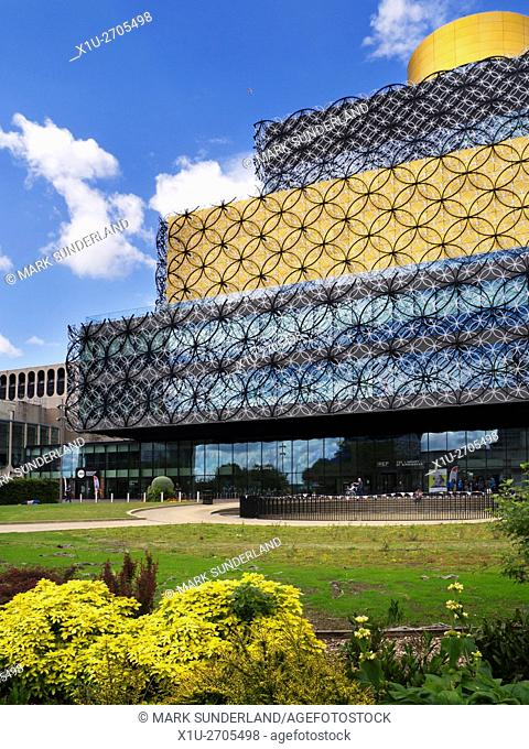 Library of Birmingham Building and The Rep in Centenary Square Birmingham West Midlands England