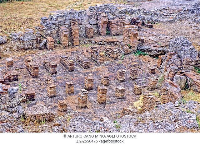 Termal baths. Roman ruins of Conimbriga, 1st century BC - 2nd century AD. Coimbra, Portugal