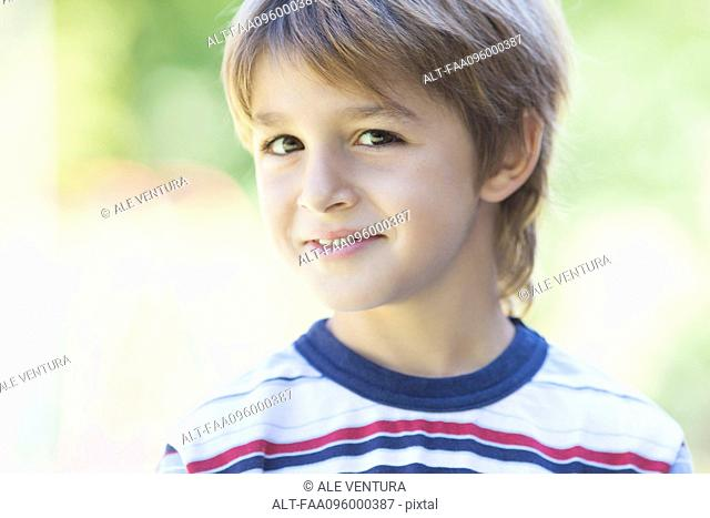 Boy in striped shirt