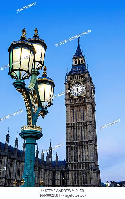England, London, Westminster, Big Ben