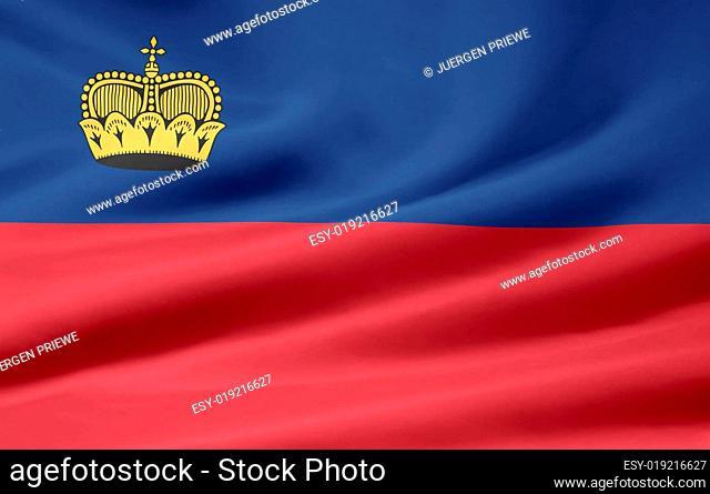Liechtenstein Flagge