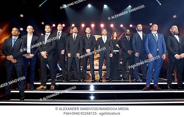Monaco, Monte Carlo - July 08, 2017: World Boxing Super Series Draft Gala and Draw for the Muhammad Ali Trophy with Oleksandr Usyk; Yunier Dorticos; Murat...