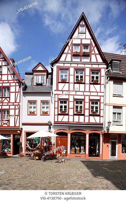 Mainz : Kirschgarten mit historischen Haeusern
