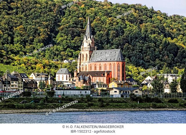 Oberwesel with the Church of Our Lady, Middle Rhine Valley, UNESCO World Heritage Site, Rhineland-Palatinate, Germany, Europe