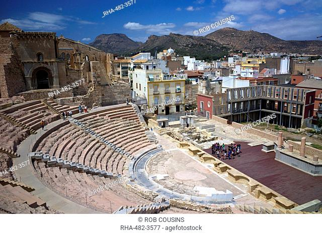 The Roman Theatre, Cartagena, Spain, Europe