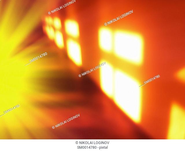 Morning windows light leak bokeh background hd