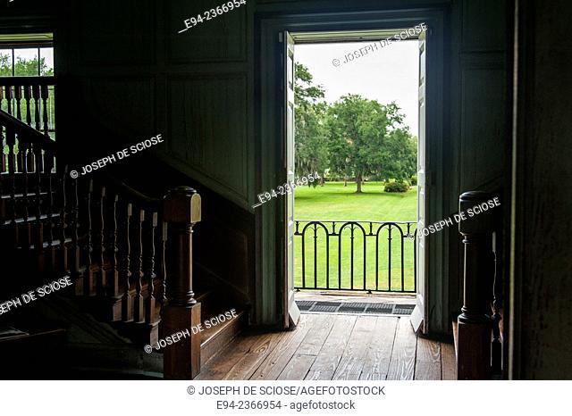 Interior detail of the 19th century Drayton Hall plantation near Charleston South Carolina