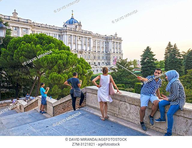 Selfie en el Palacio Real. Madrid, Spain