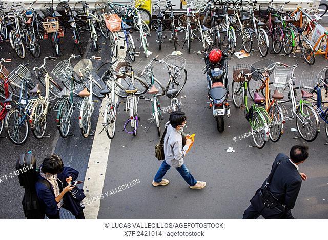 Street scene in south exit of Shinjuku JR station, Shinjuku, Tokyo