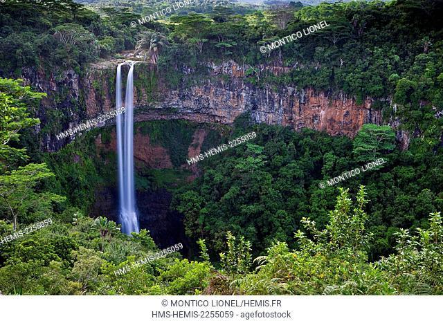 Mauritius Island, region southwest of the island, the falls of Chamarel