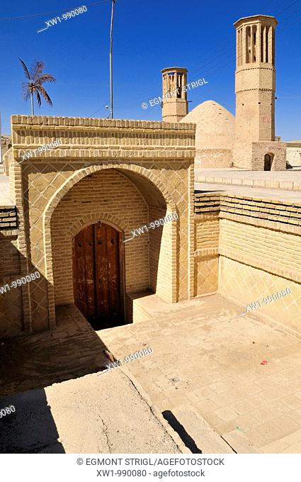 entrance portal to an underground water reservoir in Nain, Isfahan, Esfahan, Iran, Persia, Asia