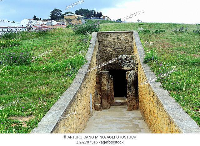 The Dolmen de Viera, the 3rd millennium BC. Antequera, Málaga province, Spain