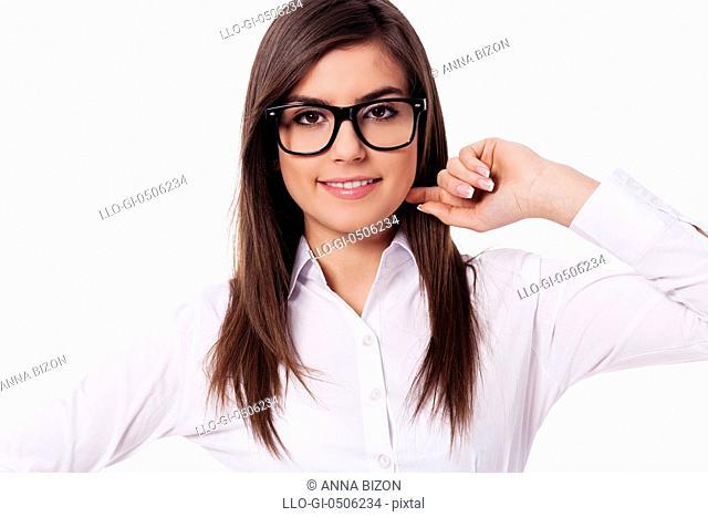 Confident and fashion businesswoman, Debica, Poland