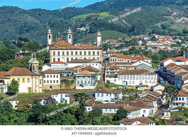 View over Ouro Preto, Minas Gerais, Brazil