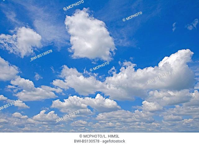 cloudy sky with puffy cumulus clouds, Austria