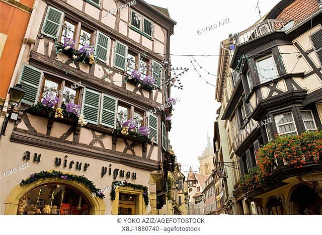 France, Alsace, Colmar, typical houses