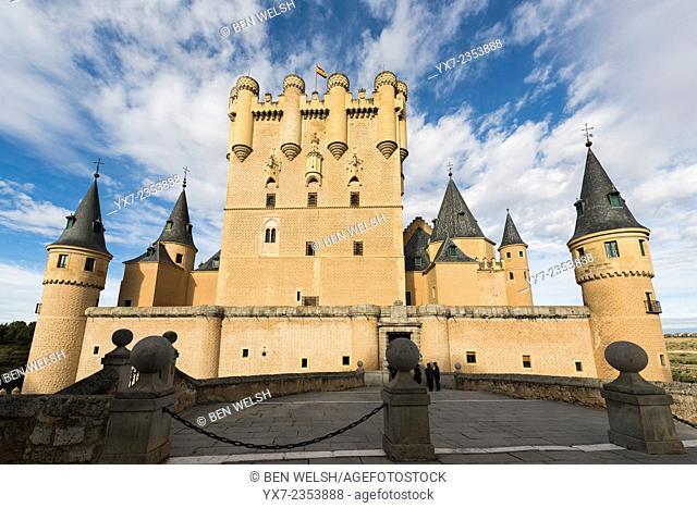 The Alcazar Castle, Segovia, Castilla y Leon, Spain