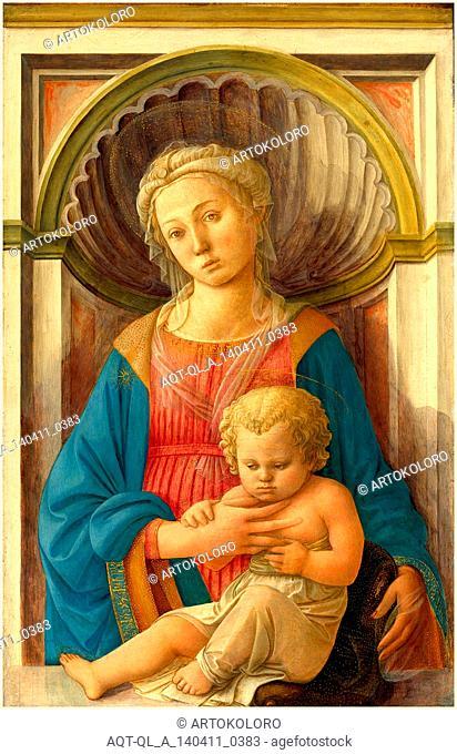 Fra Filippo Lippi, Italian (c. 1406-1469), Madonna and Child, c. 1440, tempera on panel