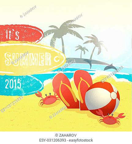 summer vacation design, vector illustration eps10 graphic