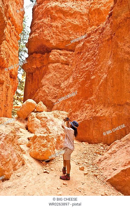 tourists in bryce canyon, utah