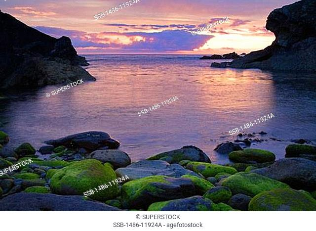 Rocks on the coast, Clogher Head, Dingle Peninsula, County Kerry, Munster Province, Ireland