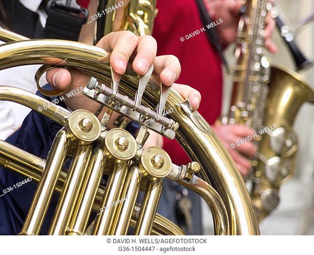 Musical instruments in Portico de Romagna, Emilia-Romagna, Italy