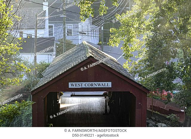 West Cornwall, CT, USA The Covered bridge over the Housatonic river