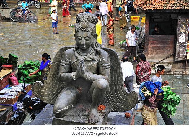 Garud statue at Durbar Square