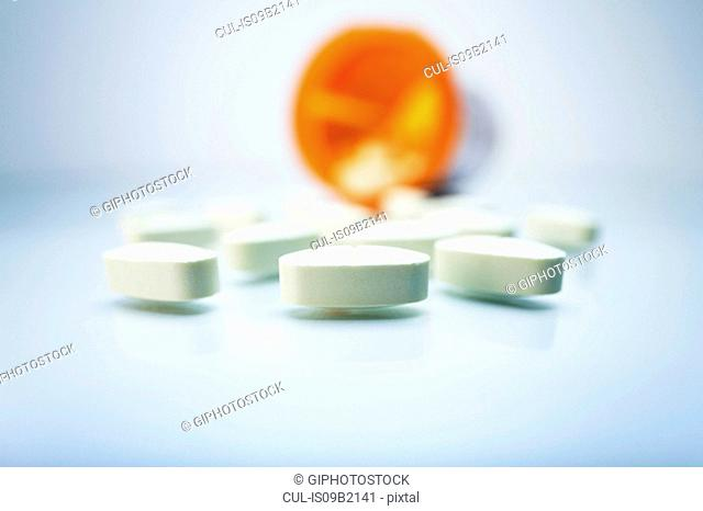 White oval pills