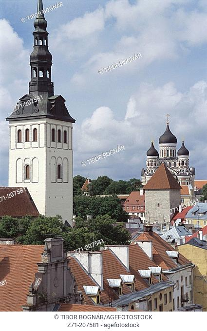 Niguliste Church & Alexander Nevsky Cathedral. Tallinn. Estonia