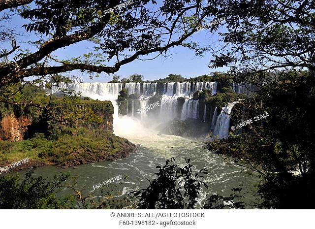 Salto San Martin, Iguazu Falls, Iguazu National Park, Puerto Iguazu, Argentina