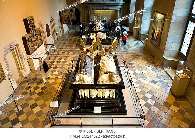 France, Cote d'Or, Dijon, Palais des Ducs, tomb of John without Fear and Marguerite of Bavaria