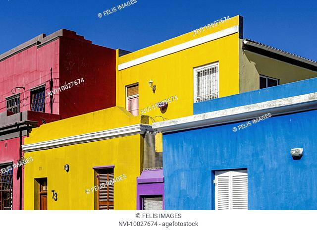 Colorful houses in Bo-Kaap, Cape Town, South Africa, Africa