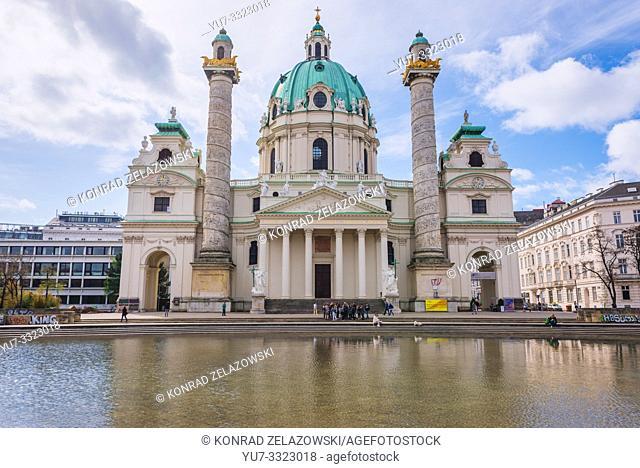 So called Karlskirche - Church of Saint Charles Borromeo in Vienna, Austria