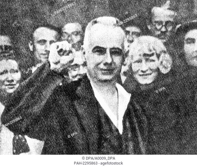Wilhelm Pieck, later president of the GDR, shortly before the Reichstag elections on the 10th of July in 1932. Wilhelm Pieck, skilled carpenter