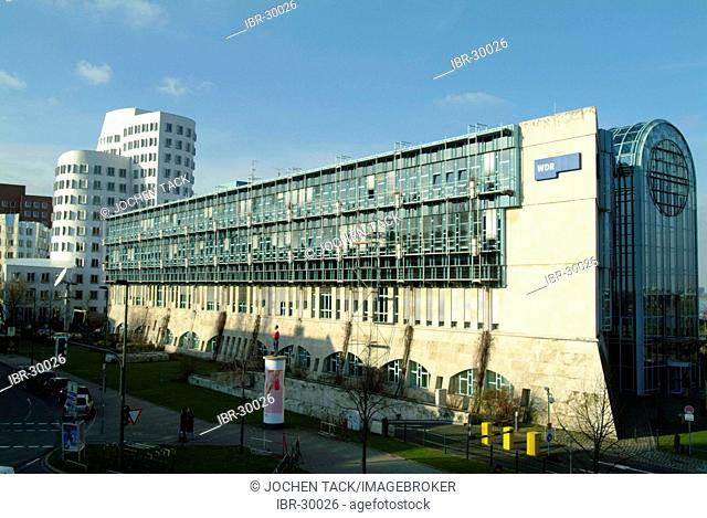 DEU, Germany: Building of the public german TV and radio station West Deutscher Rundfunk, WDR in Duesseldorf