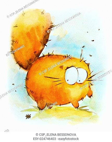 Funny red cat