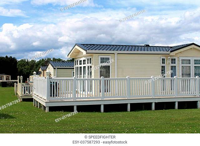 Luxurious static caravavans in holiday park, Cayton Bay, Scarborough, England