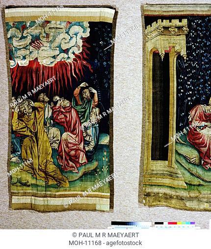 La Tenture de l'Apocalypse d'Angers, Le quatrième flacon versé sur le soleil 1,48 x 1,06m, der vierte Engel gießt seine Schale über die Sonne