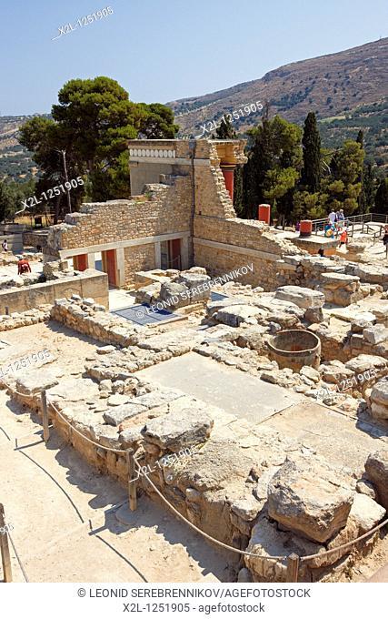 Ruins of the Knossos Palace  Crete, Greece