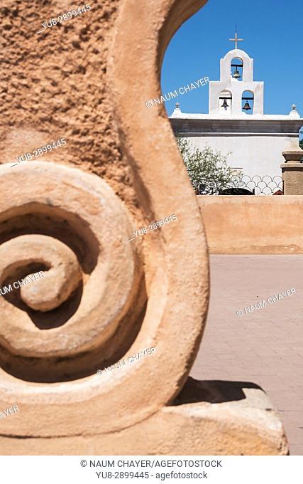 Bell tower, San Xavier Mission, Tucson , Arizona, USA