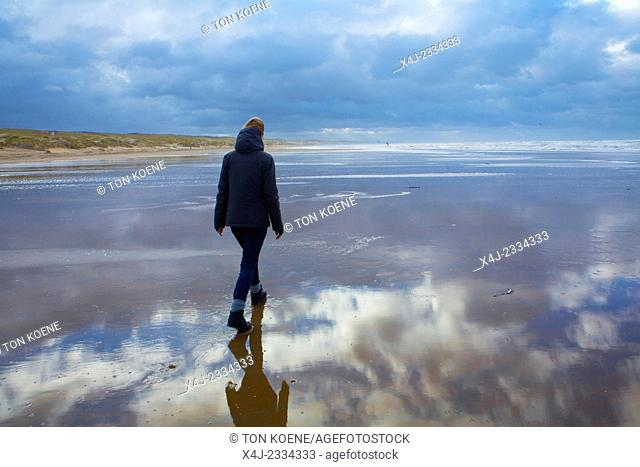 walking on the dutch beach